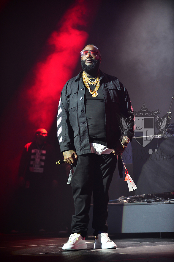 MIAMI, FL - FEBRUARY 01: Rick Ross performs on stage at the Welcome 2 Miami Music Festival – The King of Miami, at James L Knight Center on February 1, 2020 in Miami, Florida.   ( Photo by Johnny Louis / jlnphotography.com )