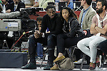 Denver Nuggets Kenneth Faried with his girlfriend during Euroleague Semifinal match. May 15,2015. (ALTERPHOTOS/Acero)
