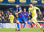Luis Suarez of FC Barcelona is chased by Mario Gaspar Pérez Martínez of Villarreal CF during their La Liga match between Villarreal and FC Barcelona at the Estadio de la Cerámica on 08 January 2017 in Villarreal, Spain. Photo by Maria Jose Segovia Carmona / Power Sport Images