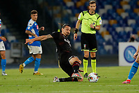 Zlatan Ibrahimovic of Milan  during the  italian serie a soccer match,  SSC Napoli - AC Milan       at  the San  Paolo   stadium in Naples  Italy , July 12, 2020