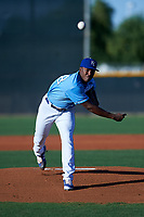 AZL Royals starting pitcher Anderson Paulino (38) during an Arizona League game against the AZL Brewers Blue at Surprise Stadium on June 18, 2019 in Surprise, Arizona. AZL Royals defeated AZL Brewers Blue 12-7. (Zachary Lucy/Four Seam Images)
