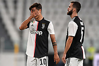 Paulo Dybala and Miralem Pjanic of Juventus during the Serie A football match between Juventus FC and US Lecce at Juventus stadium in Turin  ( Italy ), June 26th, 2020. Play resumes behind closed doors following the outbreak of the coronavirus disease. Photo Andrea Staccioli / Insidefoto