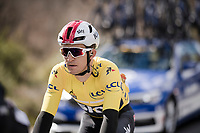 yellow jersey Michał Kwiatkowski (POL/SKY)<br /> <br /> Stage 6: Peynier to Brignoles (176km)<br /> 77th Paris - Nice 2019 (2.UWT)<br /> <br /> ©kramon