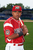 Batavia Muckdogs outfielder Travis Brewster (41) poses for a photo on July 8, 2015 at Dwyer Stadium in Batavia, New York.  (Mike Janes/Four Seam Images)