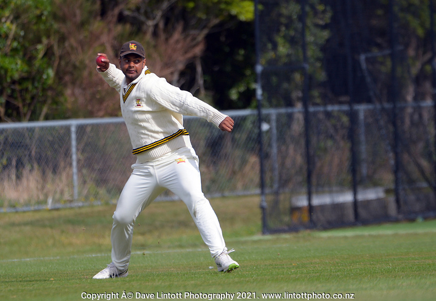 Action from day one of the provincial cricket match between Wellington A and Central Districts A at Kelburn Park in Wellington, New Zealand on Monday, 15 March 2021. Photo: Dave Lintott / lintottphoto.co.nz