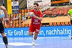 Ludwigshafens Bührer / Buehrer, Pascal (Nr.24) am Ball beim Spiel in der Handball Bundesliga, Die Eulen Ludwigshafen - Tusem Essen.<br /> <br /> Foto © PIX-Sportfotos *** Foto ist honorarpflichtig! *** Auf Anfrage in hoeherer Qualitaet/Aufloesung. Belegexemplar erbeten. Veroeffentlichung ausschliesslich fuer journalistisch-publizistische Zwecke. For editorial use only.