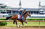 April 28, 2021: Coach exercises in preparation for the Kentucky Oaks at Churchill Downs on April 29, 2021 in Louisville, Kentucky. Scott Serio/Eclipse Sportswire/CSM