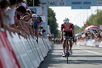 Jasper Stuyven (BEL/Trek-Segafredo) trying to bridge the gap with the race leaders with 1 lap to go<br /> <br /> Belgian National Road Championships 2019 - Gent<br /> <br /> ©kramon