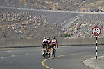 Christoph Pfingsten (GER) Jumbo-Visma, Jasper De Buyst and Thomas De Gendt (BEL) Lotto Soudal and Jack Bauer (NZL) Team BikeExchange climb the final 4km of Jais Mountain during Stage 5 of the 2021 UAE Tour running 170km from Fujairah to Jebel Jais, Ras Al Khaimah, UAE. 25th February 2021.  <br /> Picture: Eoin Clarke   Cyclefile<br /> <br /> All photos usage must carry mandatory copyright credit (© Cyclefile   Eoin Clarke)