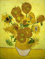 Gogh, Vincent, van (1853-1890), Die Sonnenblumen, ֬ auf Leinwand, Postimpressionismus, 1889, Van Gogh Museum, Amsterdam . - Gogh, Vincent, van (1853-1890), The Sunflowers, Oil on canvas, Postimpressionism, 1889, Van Gogh Museum, Amsterdam  Credit: culture-images/fai  Persoenlichkeitsrechte werden nicht vertreten.  Verwendung / usage: weltweit / worldwide