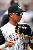 June 25, 2009:  Right Fielder Jose Tabata (31) of the Altoona Curve warms up before a game at Jerry Uht Park in Erie, PA.  The Altoona Curve are the Eastern League Double-A affiliate of the Pittsburgh Pirates.  Photo by:  Mike Janes/Four Seam Images