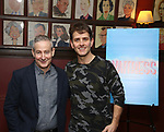 "Eddie Jamison and Joey McIntyre attend the photocall for Joey McIntyre and Eddie Jamison join the cast of Broadway's ""Waitress"" at Sardi's on January 29, 2019 in New York City."
