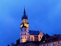 gotische Katharinenkirche, Kremnica, Banskobystricky kraj, Slowakei, Europa<br /> Gothic Church St. Catherine, Kremnica, Banskobystricky kraj, Slovakia, Europe