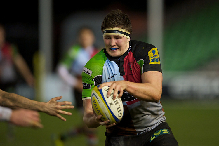 Charlie Matthews of Harlequins 'A' in action during the Aviva Premiership A League Final between Harlequins A and Saracens Storm at the Twickenham Stoop on Monday 17th December 2012 (Photo by Rob Munro)