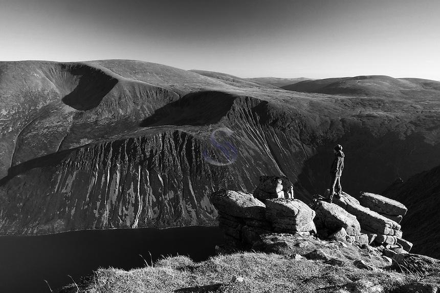 Braeriach and Loch Eanaich from Sgor Gaoith, Cairngorm National Park, Badenoch and Speyside