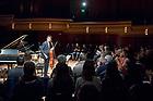 November 17, 2017; Music major Alex Mansour gives a cello recital in the Leighton Concert Hall. (Photo by Matt Cashore/University of Notre Dame)