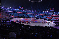 OLYMPIC GAMES: PYEONGCHANG: 09-02-2018, PyeongChang Olympic Stadium, Olympic Games, Opening Ceremony, Team Great Britain, ©photo Martin de Jong