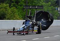 May 14, 2011; Commerce, GA, USA: NHRA top fuel dragster driver David Grubnic during qualifying for the Southern Nationals at Atlanta Dragway. Mandatory Credit: Mark J. Rebilas-