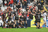 Team of Toulouse celebrates the victory during the Top 14 Final match between Toulouse and La Rochelle at Stade de France on June 25, 2021 in Paris, France. (Photo by Anthony Dibon/Icon Sport) - --- - Stade de France - Paris (France)