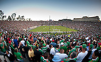 Pasadena, CA - June 25, 2011: United States vs Mexico in the 2011 CONCACAF Gold Cup Championships, at the Rose Bowl. Mexico won 4-2.