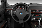 Steering wheel view of a 2005 - 2008 BMW 3-Series 328i Wagon.