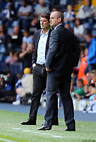 Pictured L-R: Swansea manager Michael Laudrup and West Brom manager Steve Clarke. Sunday 01 September 2013<br /> Re: Barclay's Premier League, West Bromwich Albion v Swansea City FC at The Hawthorns, Birmingham, UK.