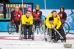 Dennis Thiessen, Sonja Gaudet, and Ina Forrest, Sochi 2014 - Wheelchair Curling // Curling en fauteuil roulant.<br />