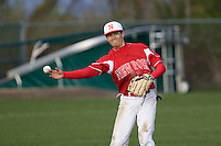 March 26, 2010: Newport High School shortstop Trace Tam Sing makes a throw to second base during a game against Skyline High School at Skyline High School in Sammamish, Washington.
