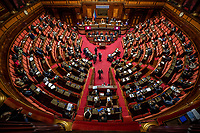 A general view during the information at the Senate about the government crisis.<br /> Rome(Italy), January 19th 2021<br /> Photo Pool Antonio Masiello/Insidefoto