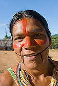 Pará State, Brazil. Aldeia Pukararankre (Kayapo). Ireroko Kayapo, teacher.