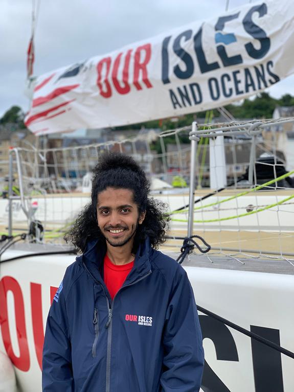 Siraj Balubaid, a refugee of Yemen who lives in Glasgow