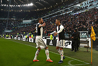 Calcio, Serie A: Juventus - Cagliari, Turin, Allianz Stadium, January 6, 2020.<br /> Juventus' Cristiano Ronaldo (l) celebrates after scoring his second goal in the match with his teammate and captain Leonardo Bonucci (r) during the Italian Serie A football match between Juventus and Cagliari at Torino's Allianz stadium, on January 6, 2020.<br /> UPDATE IMAGES PRESS/Isabella Bonotto