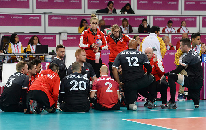 Lima 2019 - Sitting Volleyball // Volleyball assis.<br /> Canada competes in men's Sitting Volleyball // Canada participe au volleyball assis masculin. 24/08/2019.