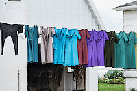 Amish clothes line, Gordonville, Pennsylvania, USA