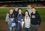 St Johnstone v Rangers…28.12.16     McDiarmid Park    SPFL<br />Fans Liason Officer Bev Mayer pictured with supporters from Eintracht Braunschweig<br />Picture by Graeme Hart.<br />Copyright Perthshire Picture Agency<br />Tel: 01738 623350  Mobile: 07990 594431