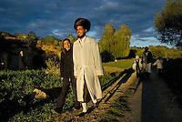 UKRAINE, Uman, 2008/09..Thousands of Hasidim celebrate Rosh Hashanah in traditional garb. Many of them wear a kittel (white robe) on Rosh Hashanah as well as on Yom Kippur..© Cyril Horiszny / EST&OST