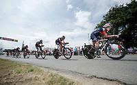 """""""La Machine"""" Sylvain Chavanel (FRA/IAM) pacing the IAM squad<br /> <br /> stage 9: TTT Vannes - Plumelec (28km)<br /> 2015 Tour de France"""
