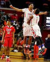 NJ Public Finals:  Group 4 Final, Paterson Eastside Ghosts vs Cherry Hill East Cougars boys basketball at the Rutgers Athletic Center, Piscataway, NJ, Sunday, March 15, 2015.  Paterson Eastside defeated Cherry Hill East by the score of 50 - 34.