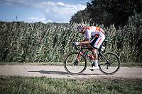 Antoine Benoist (FRA/Corendon Circus) on a off-road sector<br /> <br /> Antwerp Port Epic 2019 <br /> One Day Race: Antwerp > Antwerp 187km<br /> <br /> ©kramon