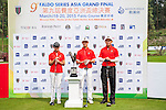 Group 16 poses for a portrait of Pakistan tees off at tee one during the 9th Faldo Series Asia Grand Final 2014 golf tournament on March 18, 2015 at Faldo course in Mid Valley clubhouse in Shenzhen, China. Photo by Xaume Olleros / Power Sport Images
