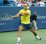 Rafael Nadal (ESP), defeats Benjamin Becker (GER) 6-2, 6-2,  at the Western & Southern Open in Mason, OH on August 14, 2013.