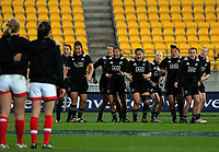 The Black Ferns perform a haka before the 2017 International Women's Rugby Series rugby match between the NZ Black Ferns and Canada at Westpac Stadium in Wellington, New Zealand on Friday, 9 June 2017. Photo: Dave Lintott / lintottphoto.co.nz