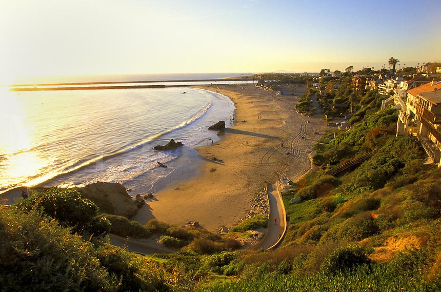 Coastline.  Corona Del Mar, California.