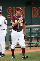 Ken Knutson, assistant coach, Arizona State Sun Devils - Annual Alumni game at Packard Stadium, Tempe, AZ - 02/06/2010..Photo by:  Bill Mitchell/Four Seam Images.