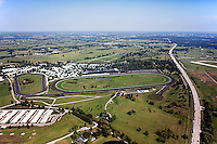 aerial photograph Keeneland, Blue Grass airport, LEX, Lexington, Kentucky