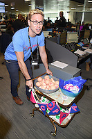 Russell Howard<br /> on the trading floor for the BGC Charity Day 2016, Canary Wharf, London.<br /> <br /> <br /> ©Ash Knotek  D3152  12/09/2016