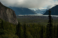 Matanuska Glacier and the valley it carved that bears its name.