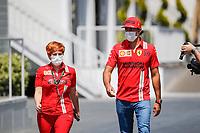 3rd June 2021; Baku, Azerbaijan;  SAINZ Carlos (spa), Scuderia Ferrari SF21 during the Formula 1 Azerbaijan Grand Prix 2021 at the Baku City Circuit, in Baku, Azerbaijan
