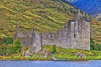 The amazing scenic ruins of Kilchurn Castle in Scotland.