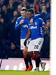 27.02.2019 Rangers v Dundee: Ryan Jack and Alfredo Morelos